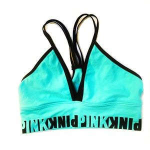 Pink VS teal cool comfy strappy unlined bralette